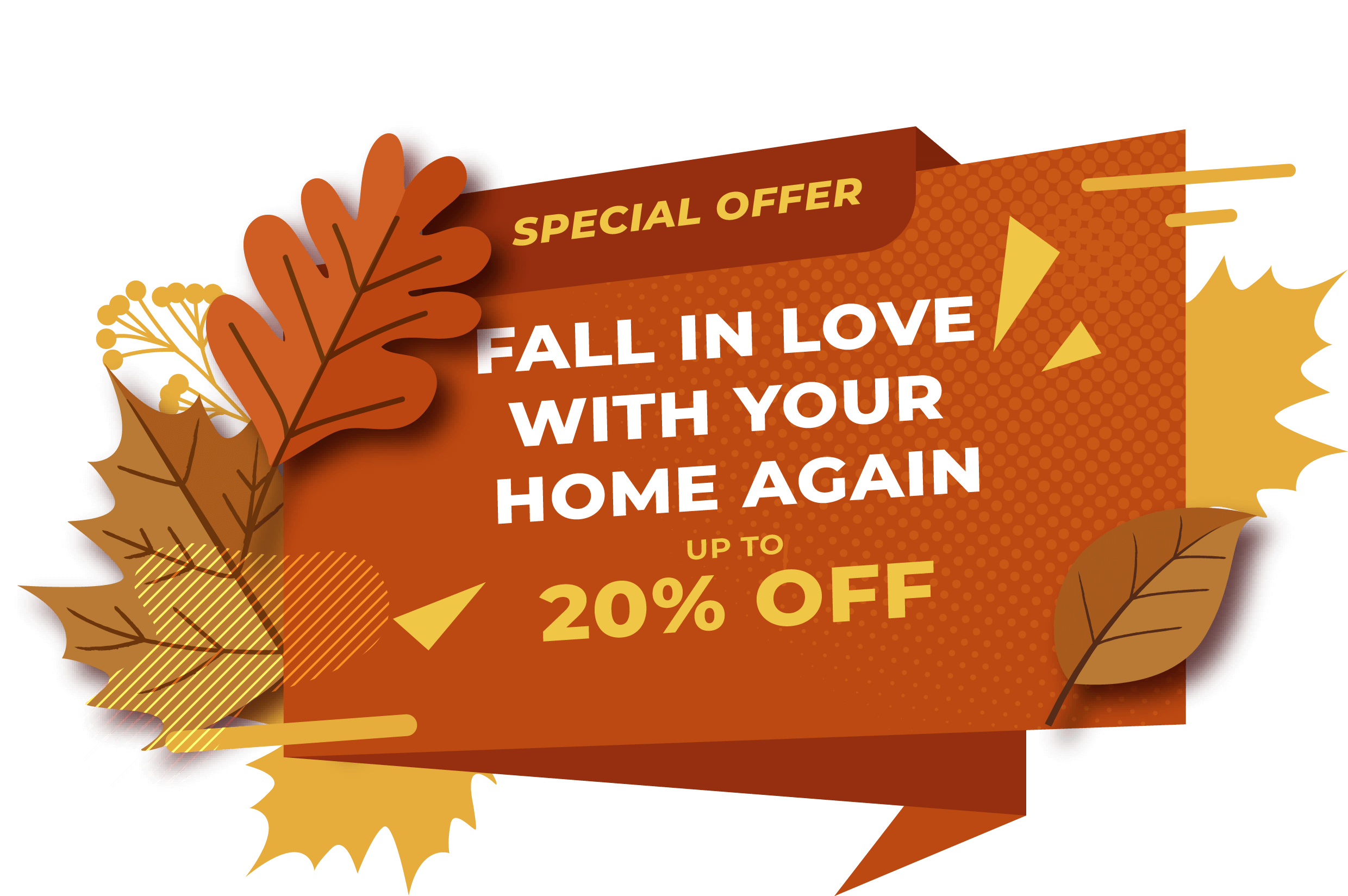 Autumn offer sticker