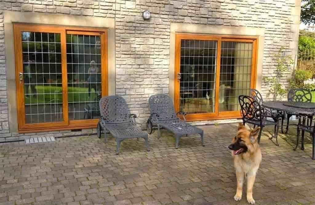 oak effect patio doors