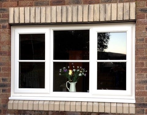 white double glazed plain windows