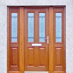 Oak colour composite door