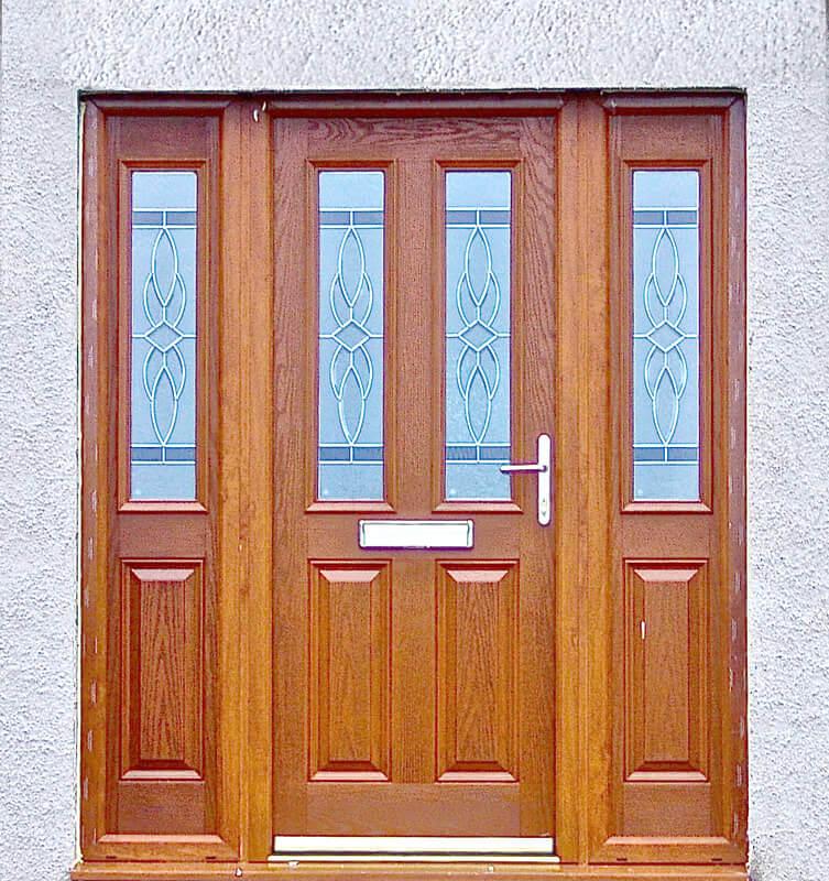 Oak colour composite door