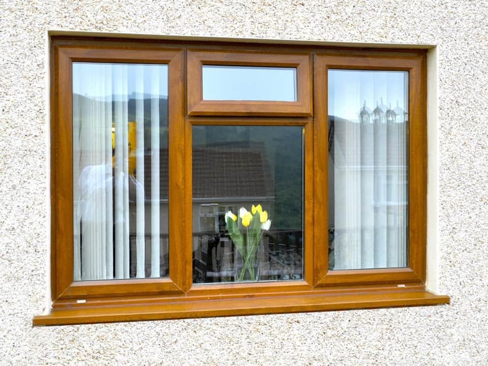 Oak colour uPVC windows