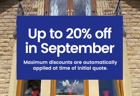 20% off windows, doors and conservatories in September