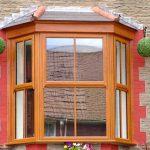 Oak colour mock sash window
