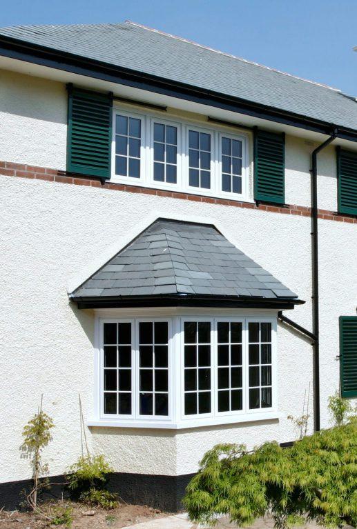 Double glazed aluminium windows in white