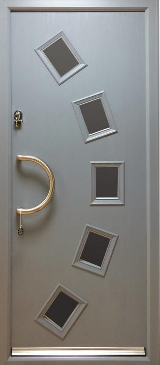 silver composite door
