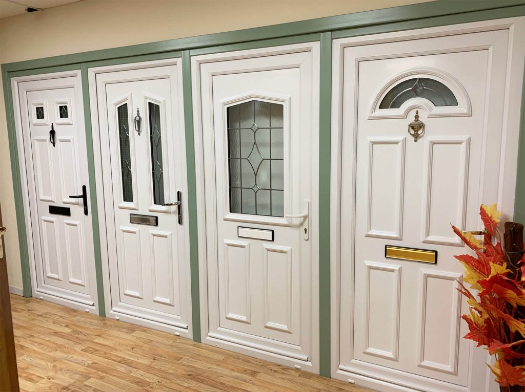 uPVC doors in our double glazing showroom