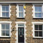 white full frontage sash windows
