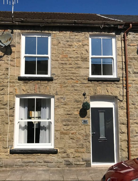 White sash windows for terraced home