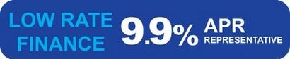 Low rate finance 9.9% apr