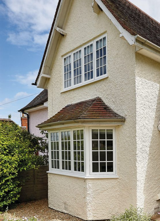 White double glazed windows with astragal bars