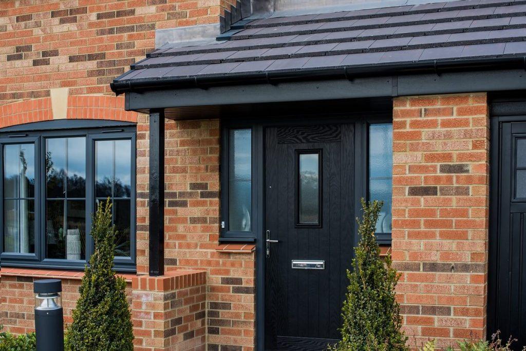 Black virtuoso composite door